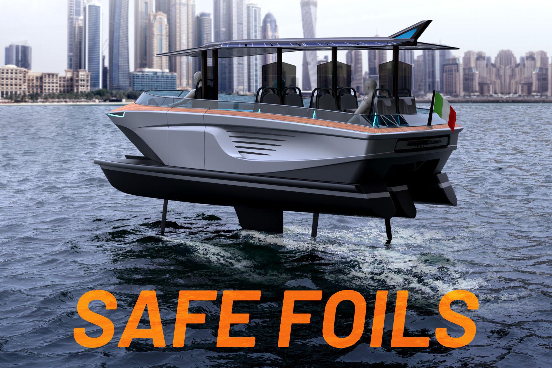 Gerrisboats: scafi ad alta tecnologia e Safe Foils